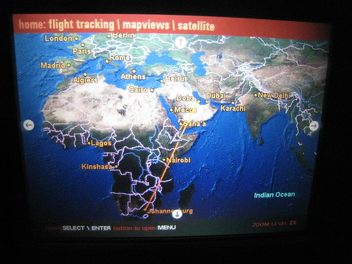 Flight across Africa