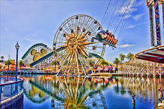 Disneyland - The Pier they call Paradise (Matt Pasant) Tags: california ca morning apple water colors clouds canon disneyland magic sunday wed august disney wishes ferriswheel grotto amusementpark orangecounty anaheim dca dlr themepark relfection californiaadventure waltdisney californiascreamin cs3 paradisepier wdi imagineer 40d yearofamilliondreams topazadjust
