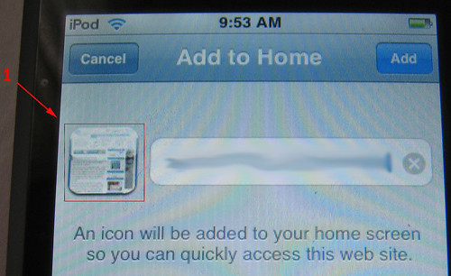 Would you Add this blog icon to your Home?