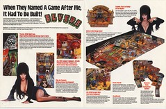 Elvira and the Party Monsters promo flyer centerfold