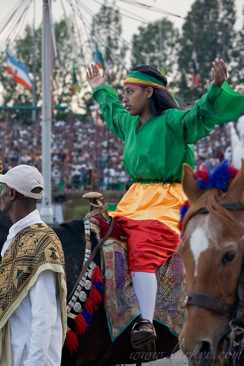 Rider #2, Meskel, Addis Ababa, Ethiopia, 2008