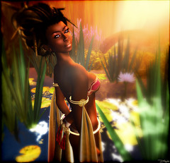 Lotus (Divine Tokyoska) Tags: life female avatar sl secondlife second silks analise gorean