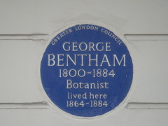 Photo of George Bentham blue plaque