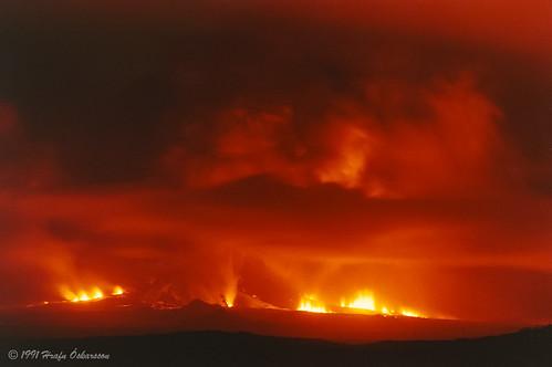 Hekla: 2ème volcan qui de réveille !: picture Hekla eruption, on January 17th. 1991 by hrafnoskarsson