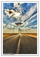 Fasten your seat belt (Khalid AlHaqqan) Tags: road street travel cloud sun clouds highway desert kuwait khalid hdr souqsharq sharq kuwson alhaqqan