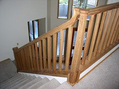 Over the Post Stair System (Imagination Unincorporated) Tags: stair railing kellys baluster newelpost safetyrail stairrailing decorativerailing oakrail balister overthepost starirrailing customnewelpost railingsystem safetyrailing decorativerail