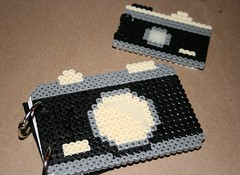 little and large (miss adelle) Tags: camera album journal perlerbeads hamabead elsiecake