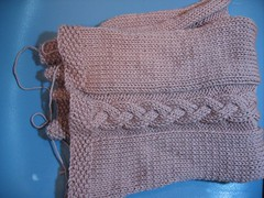Braided cable 3/4 sleve shrug