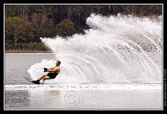 super slalom 2 (gordolake) Tags: lake nature water ecology scenery australia newsouthwales environment waterskiing recreation environmentalism ecosystem sportsrecreation waterrecreation micartttt perfectactionshot