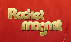 Rocket Magnet Advertisment (Timothy  Blake) Tags: red color colour texture photoshop dark paper gold golden design colorful good textures font colourful greats timothy portfolio blake tyography