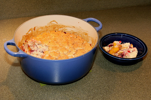 Peach and Cranberry Cobbler