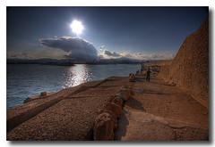 The kid (Vicent de los Angeles) Tags: boy sea fab sun sol valencia clouds port canon puerto eos spain agua angle stones wide nubes nublado nio hdr 1022 piedras gandia canonefs1022mmf3545usm photomatix 40d abigfave