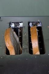 toasting bread