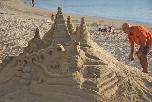 Waikiki Beach Sand Castle