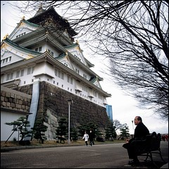 (Tommy Tomickey) Tags: film japan 50mm hasselblad osaka osakacastle  fujichromeprovia100f  501c expired2007