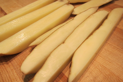 MB Post: Raw Potato Cut into Long Wedges