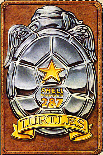 "Ralston ""Teenage Mutant Ninja Turtles"" Cereal -  ""FREE I.D.WALLET"" iii / T.U.R.T.L.E.S. BADGE (( 1991 ))"