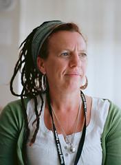 2011-06-13 -13 (amarkfell) Tags: uk portrait woman green film face look june mediumformat suffolk 13 dreads ipswich 2011 mamiya6451000s youthworker kodayektra100