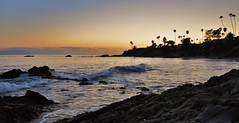 Waves, Palms & Sunsets...who could ask for more? (swazileigh/ Langman Lightscapes) Tags: ocean california sunset palms rocks waves palmtrees laguna lagunabeach flickrtoday swazileigh