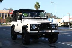 Land Rover Defender 90 (Have Fun SVO) Tags: auto road ca street white car truck lights la losang