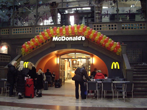 McDonalds in the Stockholm Central Station