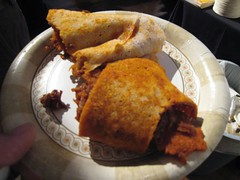 Lentil and beef injera roll-ups, Queen of Sheba
