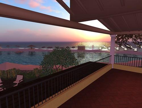 Myrsine island at dawn
