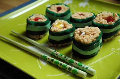 Mock Sushi for April Fool's Day breakfast
