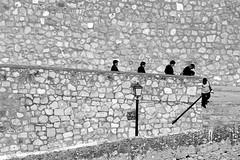 Pole position (Manuel Atienzar) Tags: people espaa spain gente streetphotography stairway pole escalera poleposition goingdown albacete bajando flickrstas manuelatienzar chinchillademontearagn