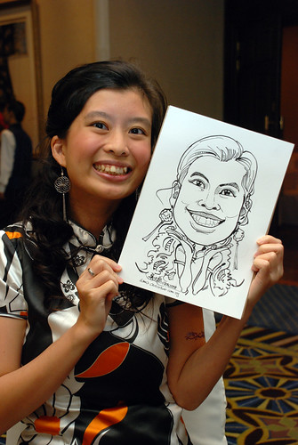 Caricature live sketching SIA Engineering 2
