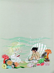 wendy reads to tom (t. van gieson) Tags: sea shells coral tom illustration reading wendy underthesea seafloor annegrahamejohnstone