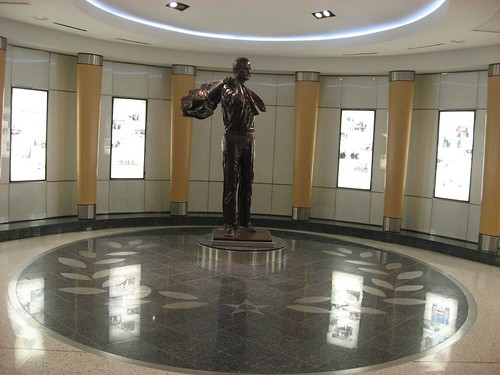 George Bush Sr. Statute in Houston Airport