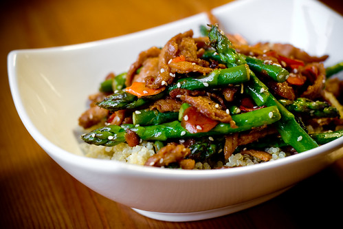 Sesame Soy Curls with Asparagus