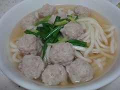Udon Soup (Food Trails) Tags: udon homemade noodles foodtrails homecooked homestyle homecooking comments springonion chickenbroth fishandmeatballs