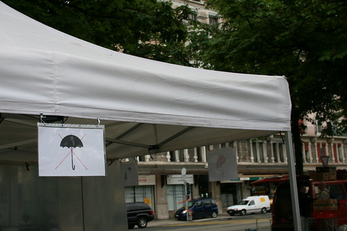This tent is not an umbrella