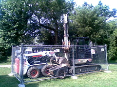 Caged Construction Vehicles