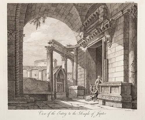 08-Vista de la entrada al templo de Júpiter,