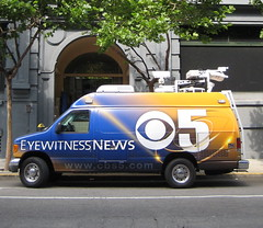 Eyewitness (Phillie Casablanca) Tags: sanfrancisco california usa news cameras van eyewitness cbs5 eye5