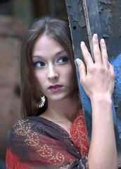 [フリー画像] 人物, 女性, アジア女性, 覗く, 200807090500