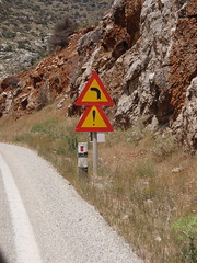 A favorite road sign (steven_and_haley_bach) Tags: mystras fifthday mistras greecevacation