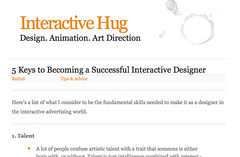 Interactive Hug » 5 Keys to Becoming a Successful Interactive Designer_1214524575332