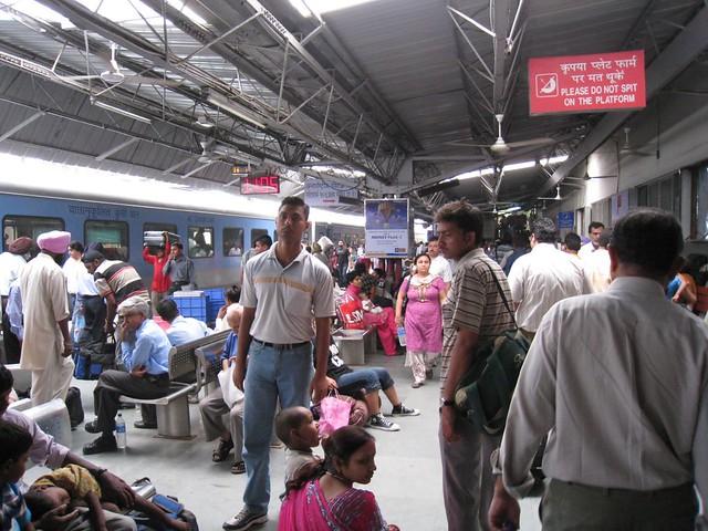 Train platform in New Delhi