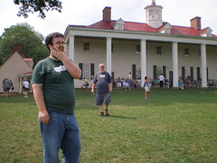 Visiting Mt. Vernon, VA on July 5, 08