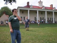 Visiting Mt. Vernon, VA on July 5, 08