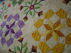 VQG Opportunity quilt (Jessica's Quilting Studio) Tags: arizona flower phoenix jones quilt jessica feathers quilting freehand custom mctavish applique longarm machinequilting jessicajones gamez longarmquilting rafflequilt jessicabrunnemer valleyquiltmakersguild opportunityquilt