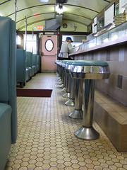 Closing Time (BennyPix) Tags: trip vacation copyright food classic rain canon ma eos restaurant cloudy massachusetts  newengland overcast diner april sal