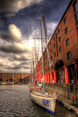 Albert Dock and visiting Clippers (dewmuw) Tags: liverpool hdr clippers albertdock 30d