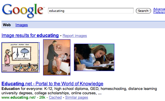 Educating in Google, Comeon!