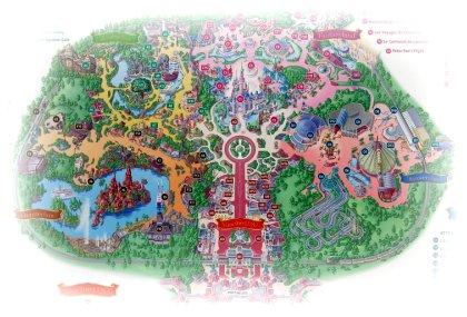 Disneyland Park Lageplan