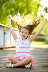 happy hair (david_CD) Tags: girls summer portrait kids hair children happy fly nikon excited losangles childish lightroom lightonkids 85390114